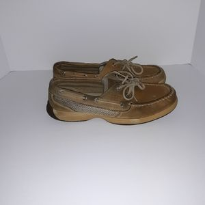 Sperry tan leather topsider loafers